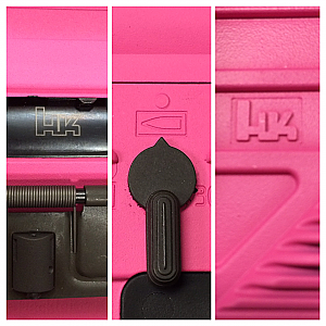 Custom Shop Pink HK416 with accessories
